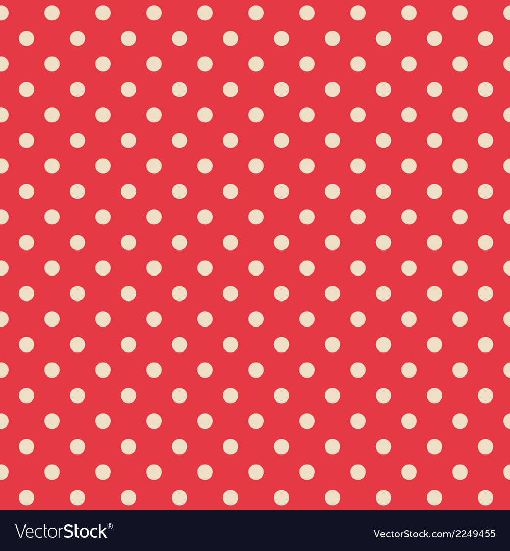 Seamless background of polka dot pattern vector | Price: 1 Credit (USD $1)