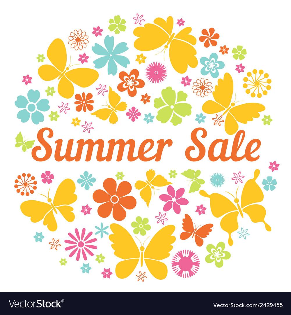 Summer sale badge vector | Price: 1 Credit (USD $1)
