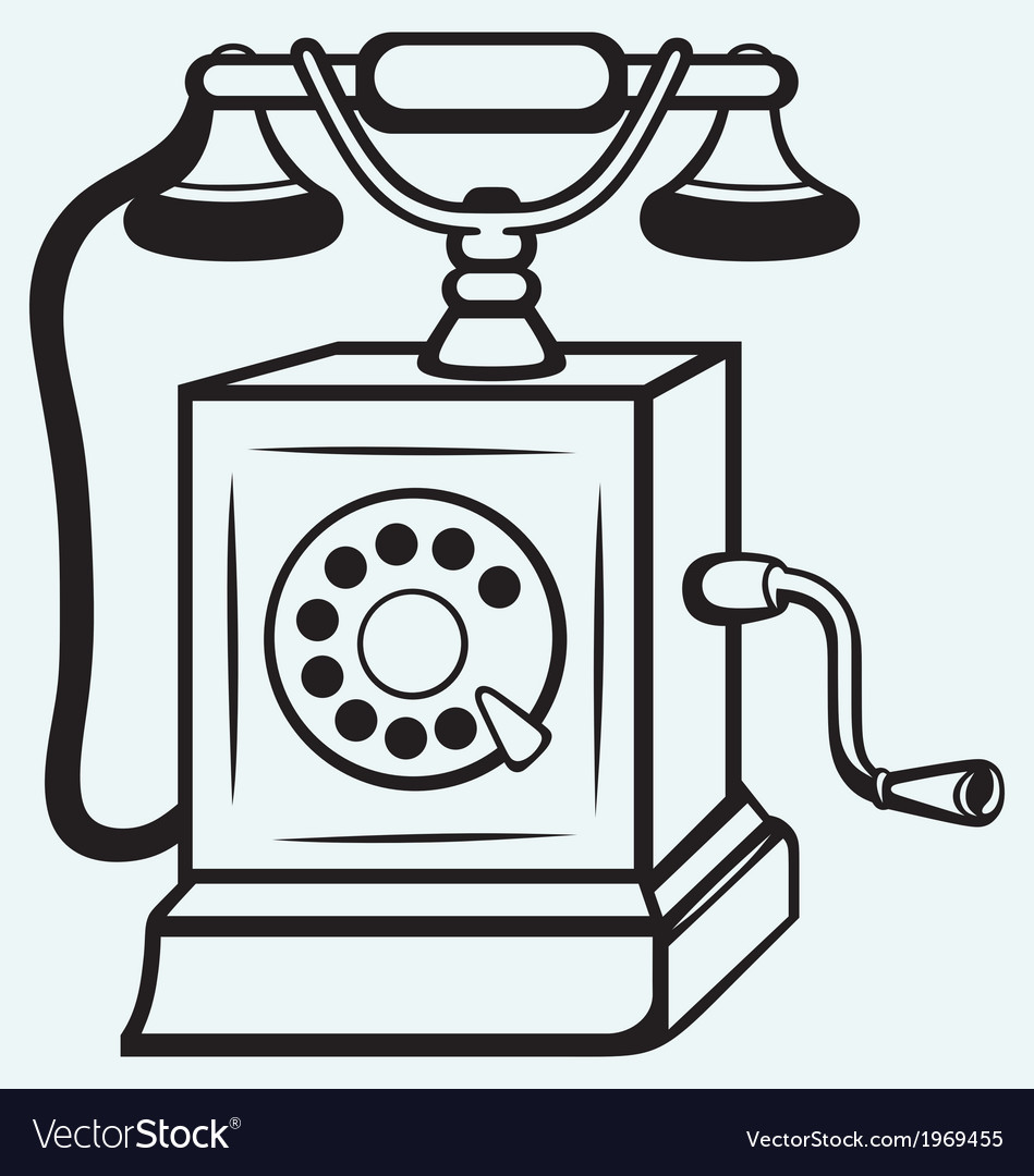 Vintage old telephone vector | Price: 1 Credit (USD $1)