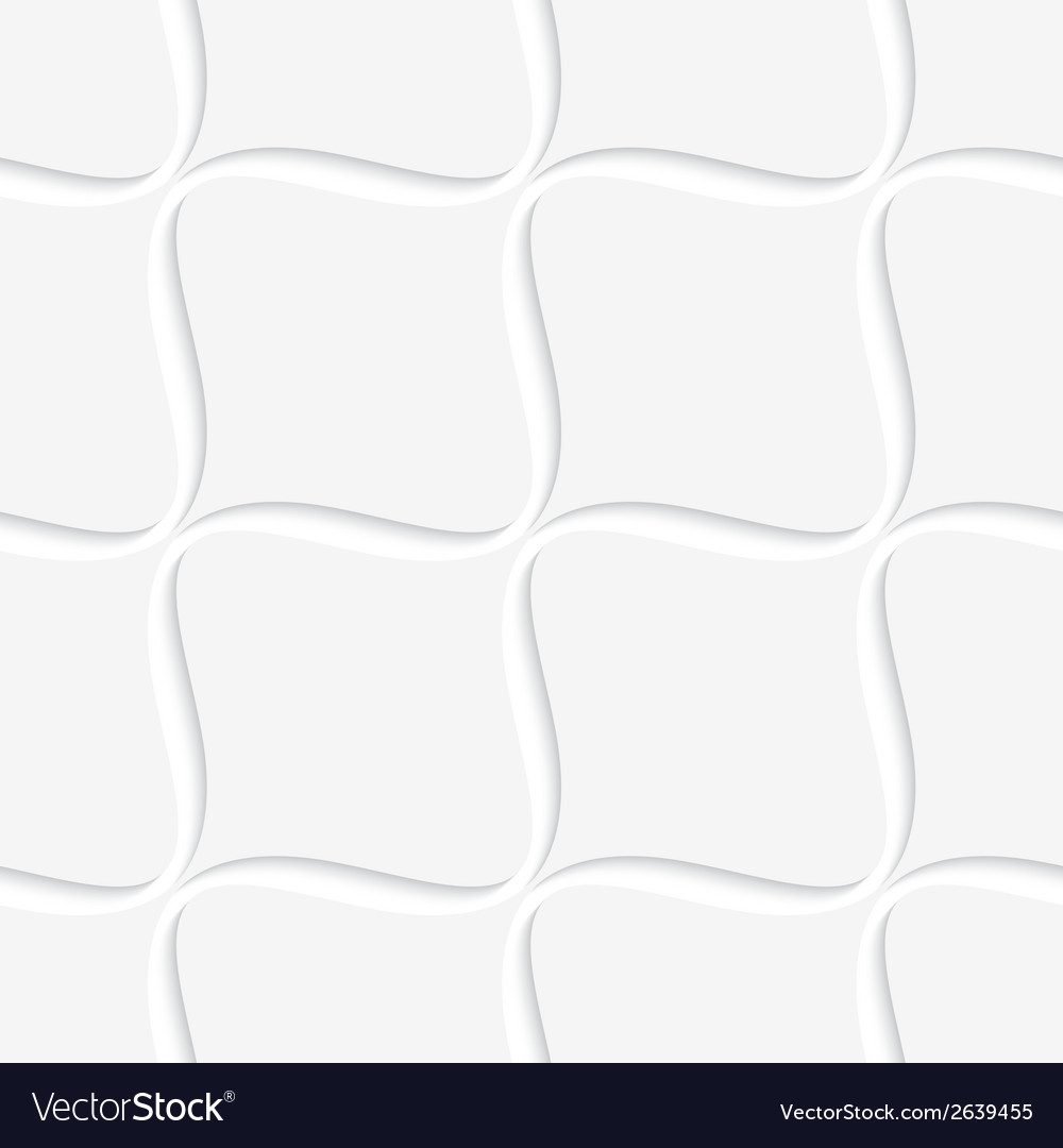 White diagonal wavy squares seamless pattern vector | Price: 1 Credit (USD $1)