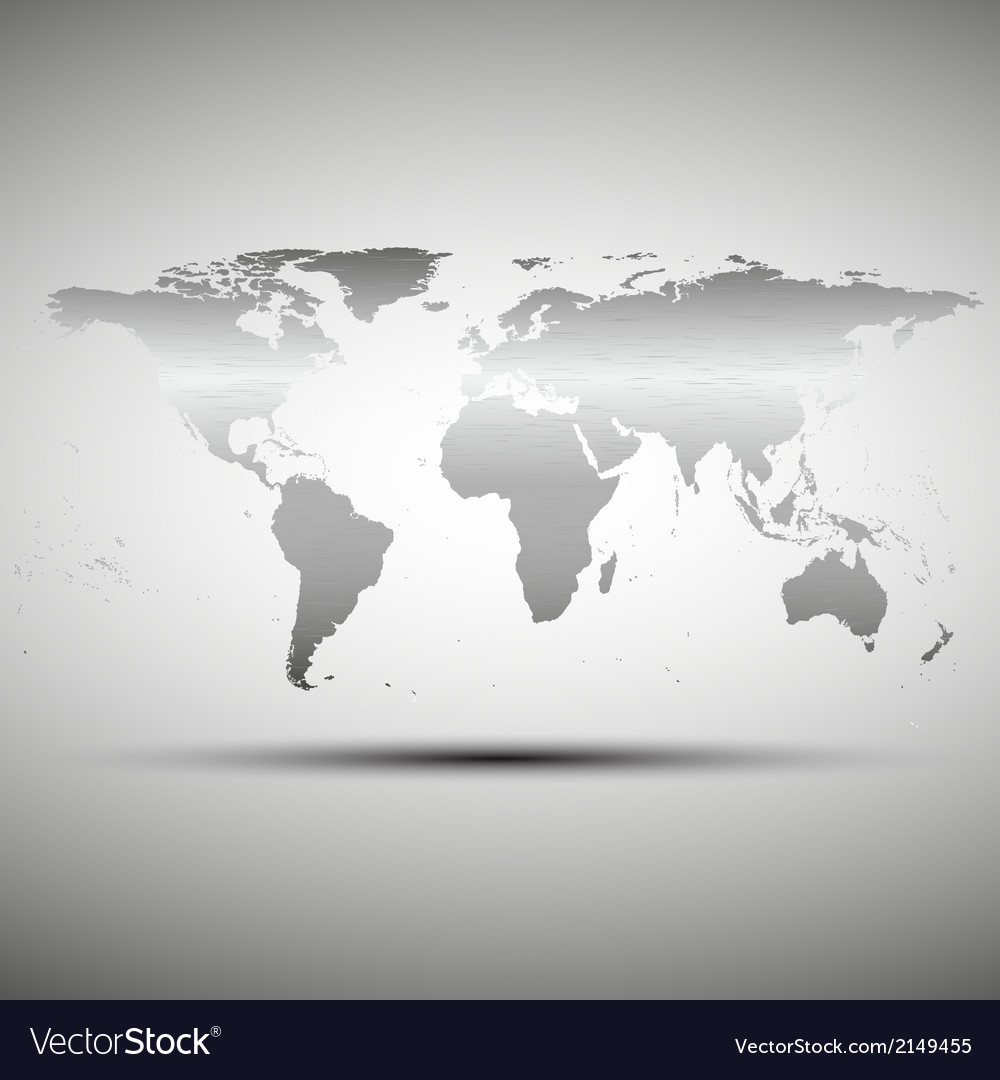 World map with the shadow on gray background vector   Price: 1 Credit (USD $1)