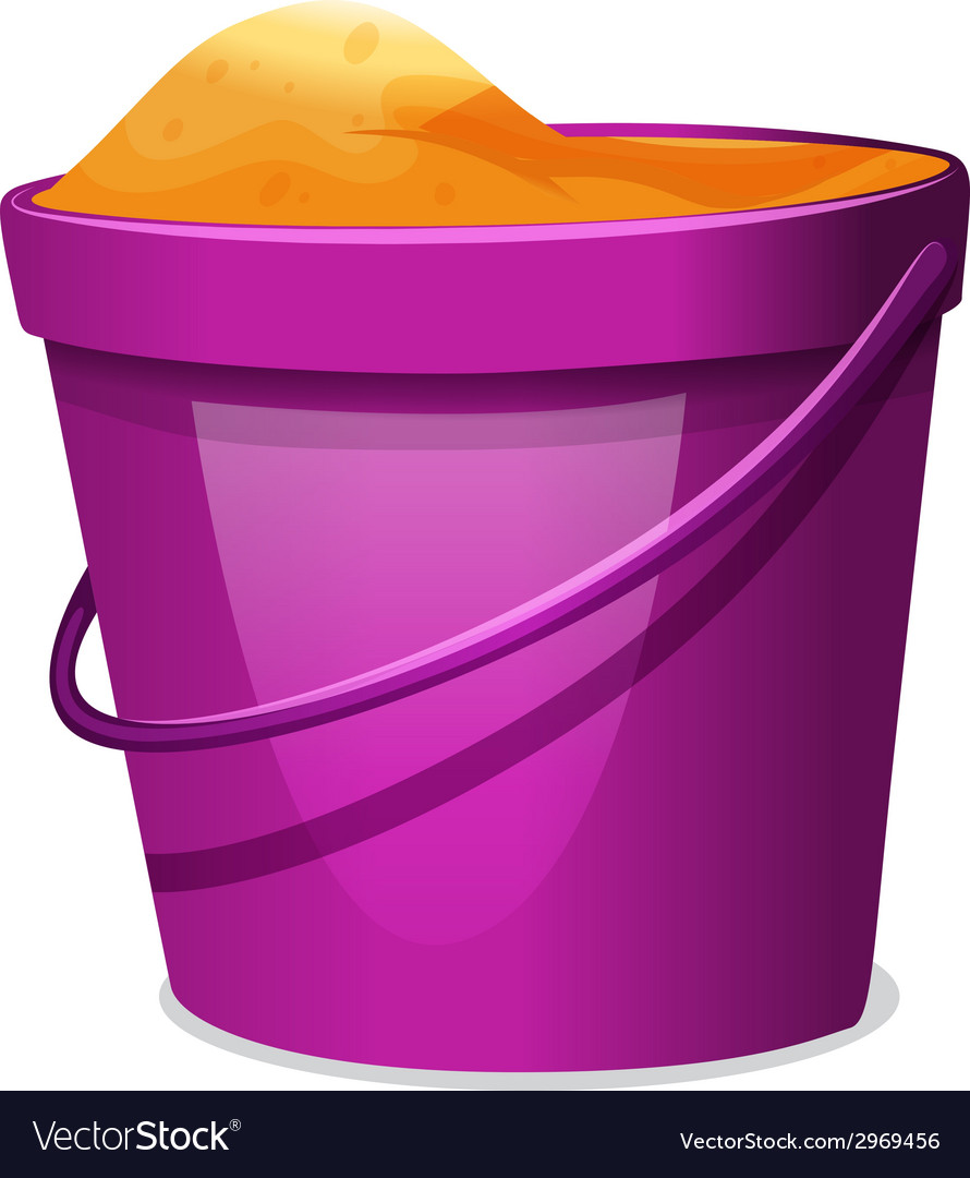 A violet pail with sand vector | Price: 1 Credit (USD $1)