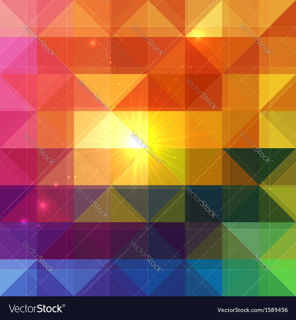 Bright abstract triangles background vector | Price: 1 Credit (USD $1)