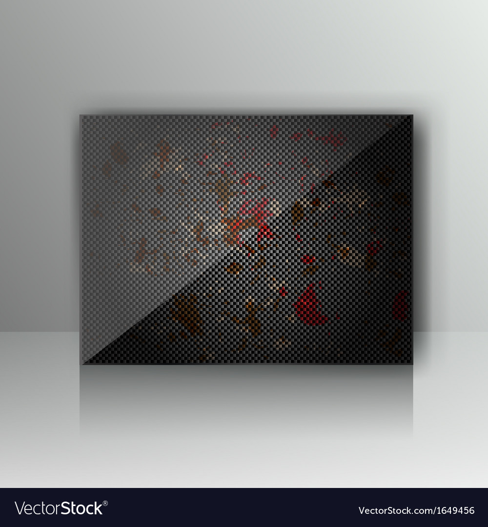 Card with abstract grunge metal background vector | Price: 1 Credit (USD $1)