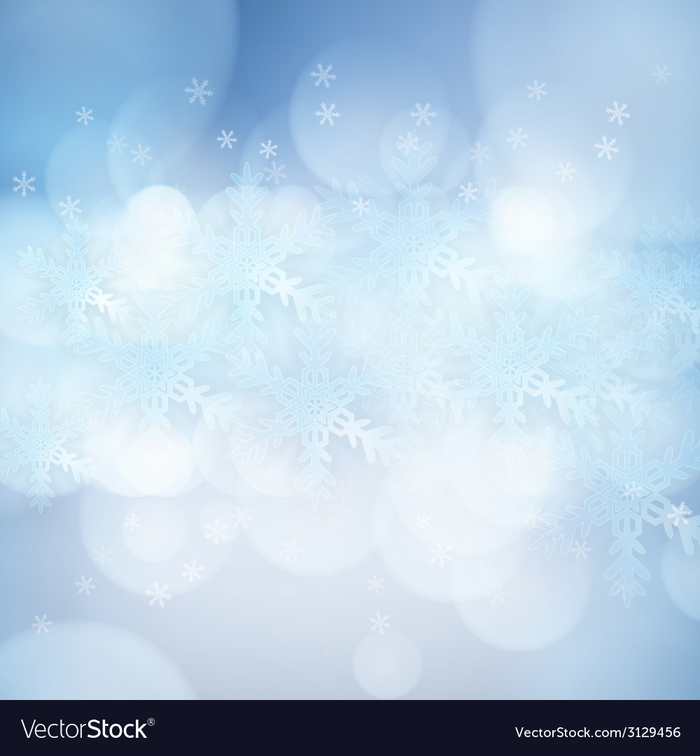 Christmas background with snowflakes and lights vector   Price: 1 Credit (USD $1)