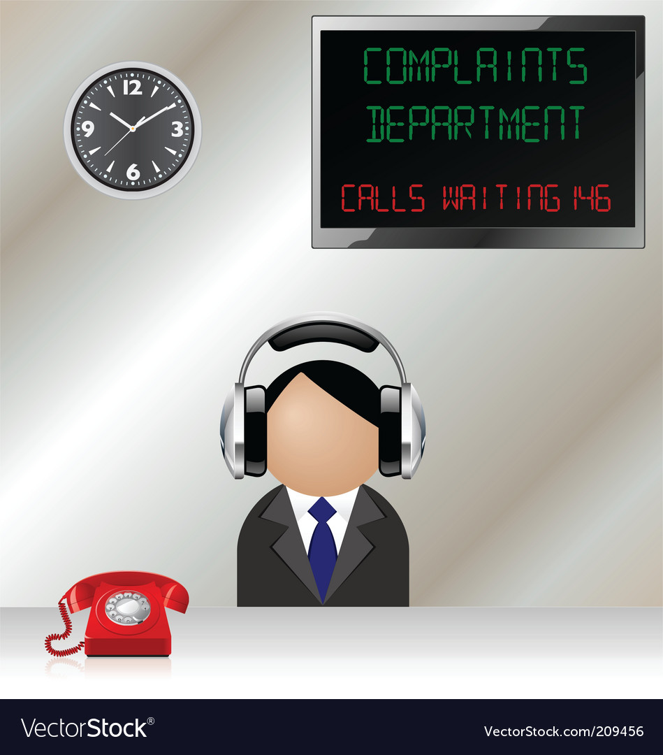 Complaints department vector | Price: 1 Credit (USD $1)