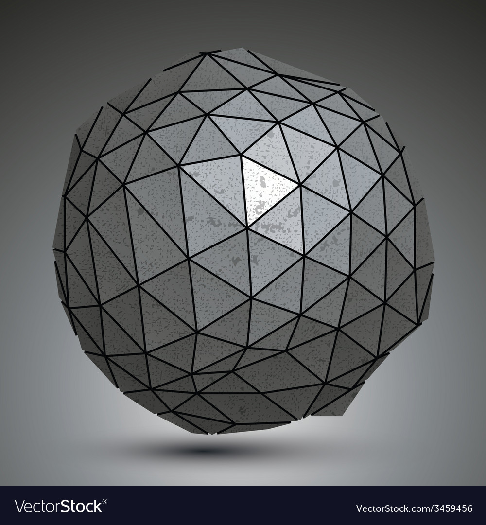 Distorted metallic dimensional abstract object vector | Price: 1 Credit (USD $1)