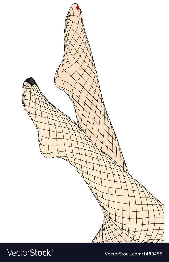 Feet and fishnet stockings vector | Price: 1 Credit (USD $1)