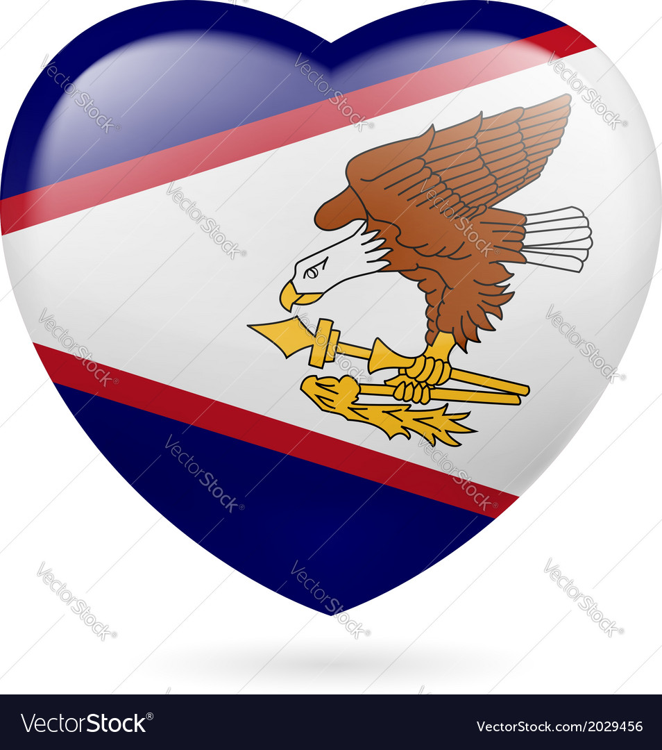 Heart icon of american samoa vector | Price: 1 Credit (USD $1)
