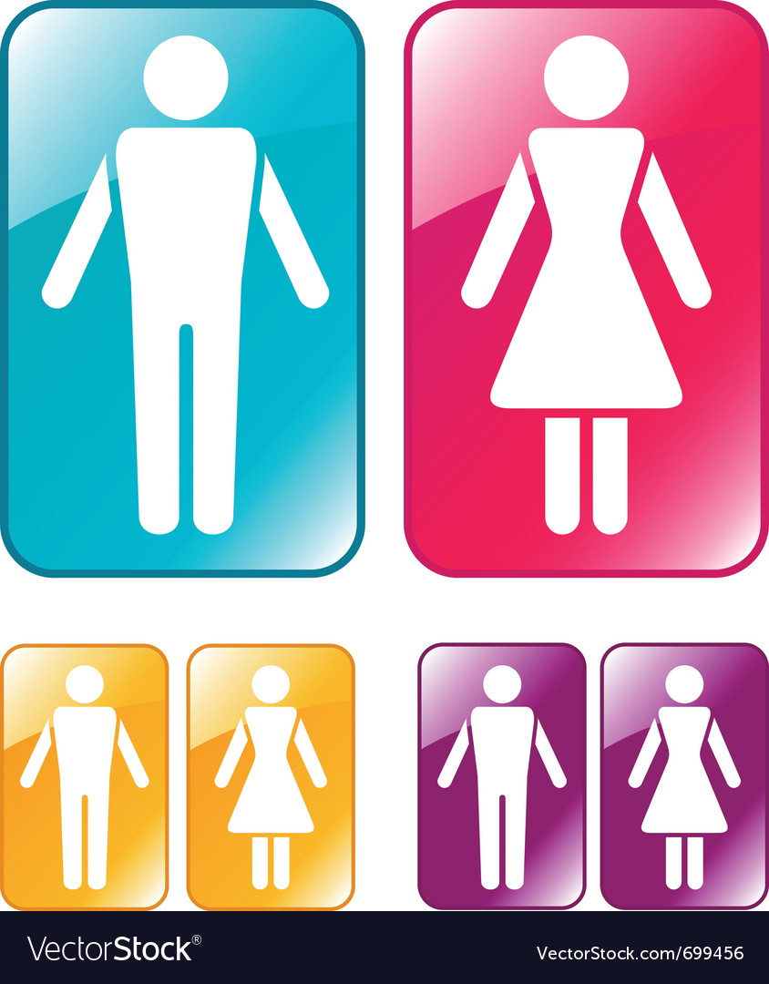 Male and female wc sign vector | Price: 1 Credit (USD $1)