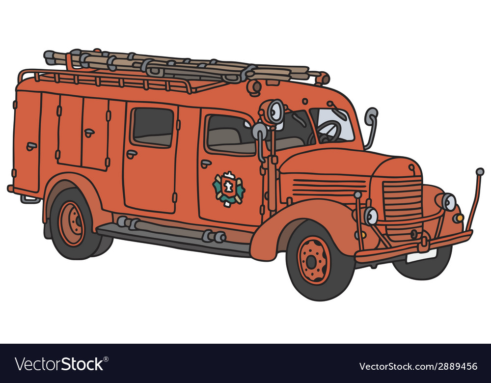 Old firetruck vector | Price: 1 Credit (USD $1)