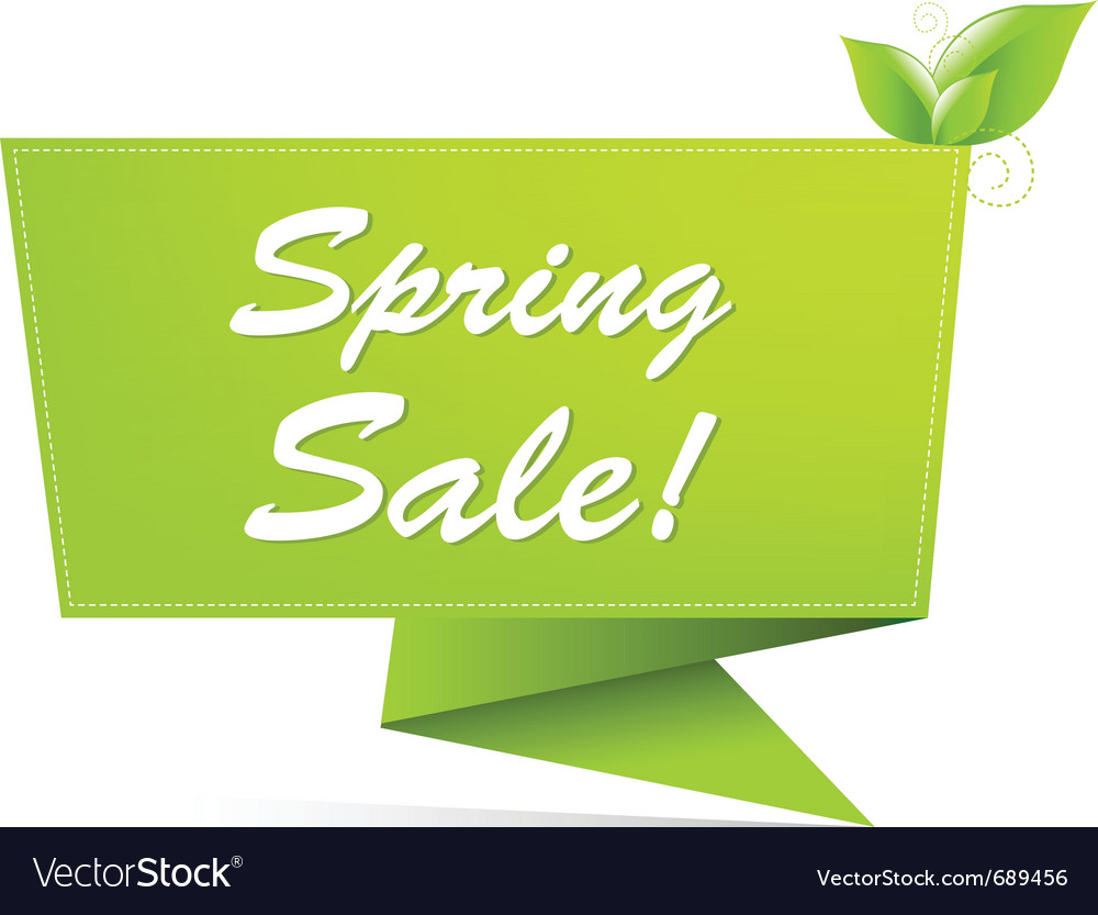 Sale spring banner vector | Price: 1 Credit (USD $1)