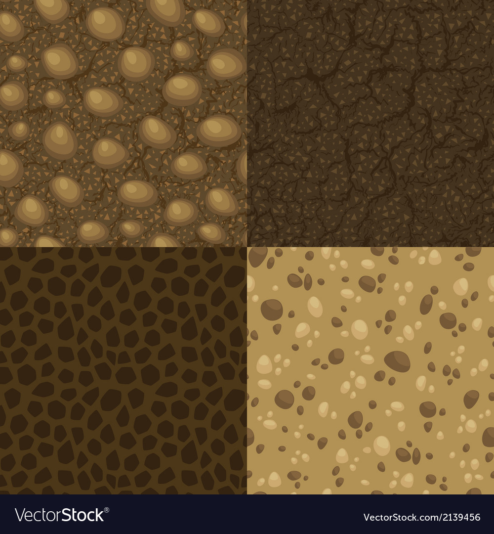 Set of seamless pattern for ground inside vector | Price: 1 Credit (USD $1)