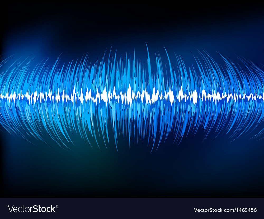 Sound waves oscillating on black eps 10 vector | Price: 1 Credit (USD $1)