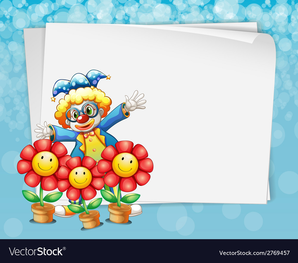Banner and clown vector | Price: 1 Credit (USD $1)