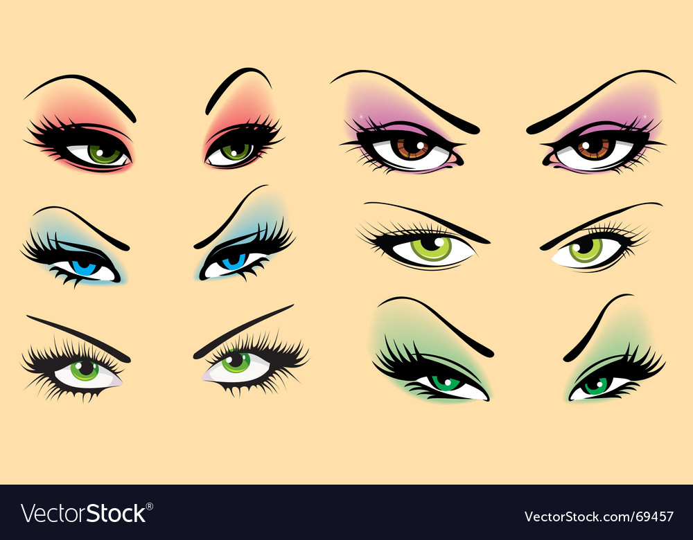 Beautiful makeup vector | Price: 1 Credit (USD $1)