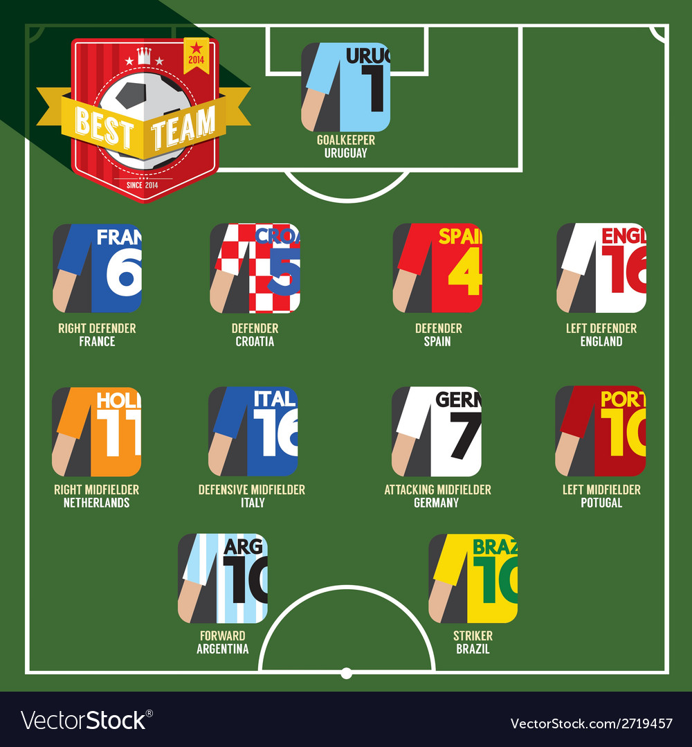 Best team soccer of football vector | Price: 1 Credit (USD $1)