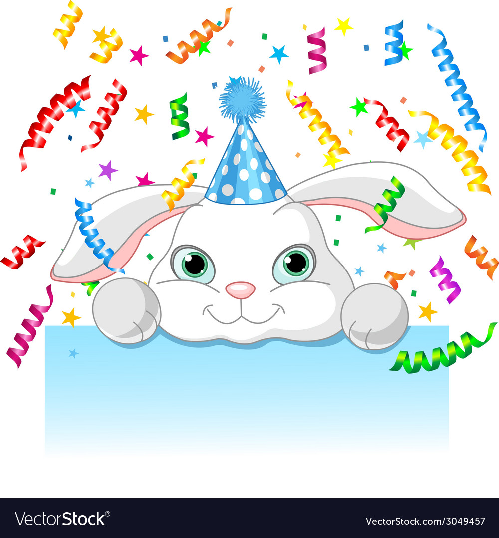 Bunny birthday vector | Price: 1 Credit (USD $1)