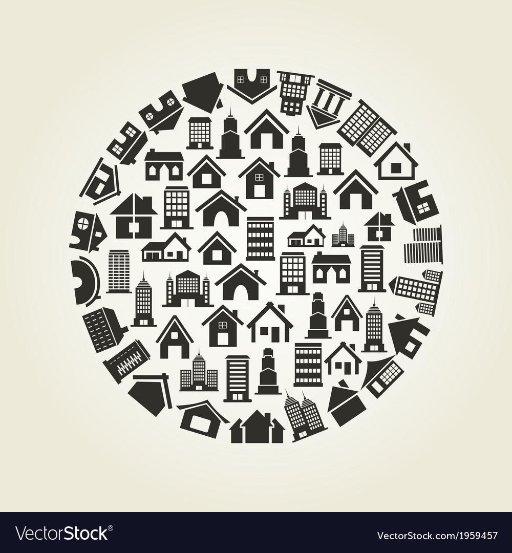 House a circle vector | Price: 1 Credit (USD $1)