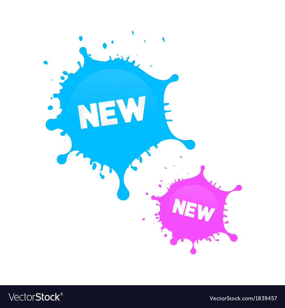 Pink and blue stickers - stains vector | Price: 1 Credit (USD $1)