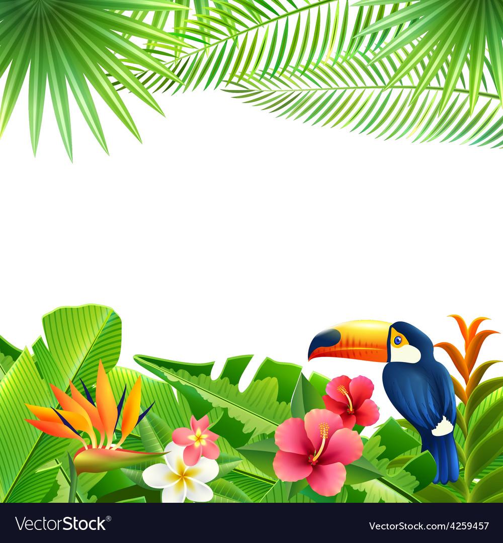 Tropical landscape background vector | Price: 1 Credit (USD $1)