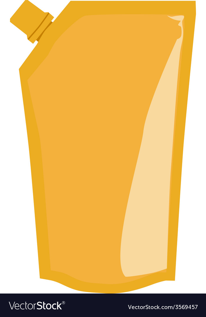 Yellow sauce package vector | Price: 1 Credit (USD $1)