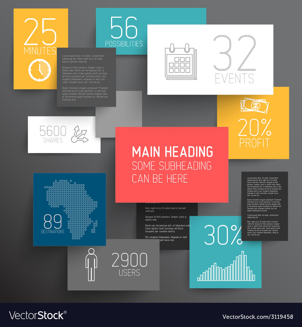 Abstract rectangles infographic template vector | Price: 1 Credit (USD $1)