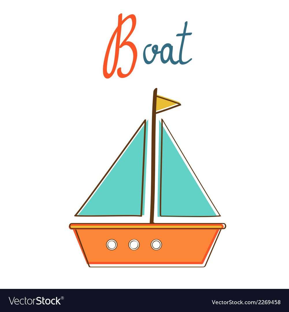 B is for boat vector | Price: 1 Credit (USD $1)