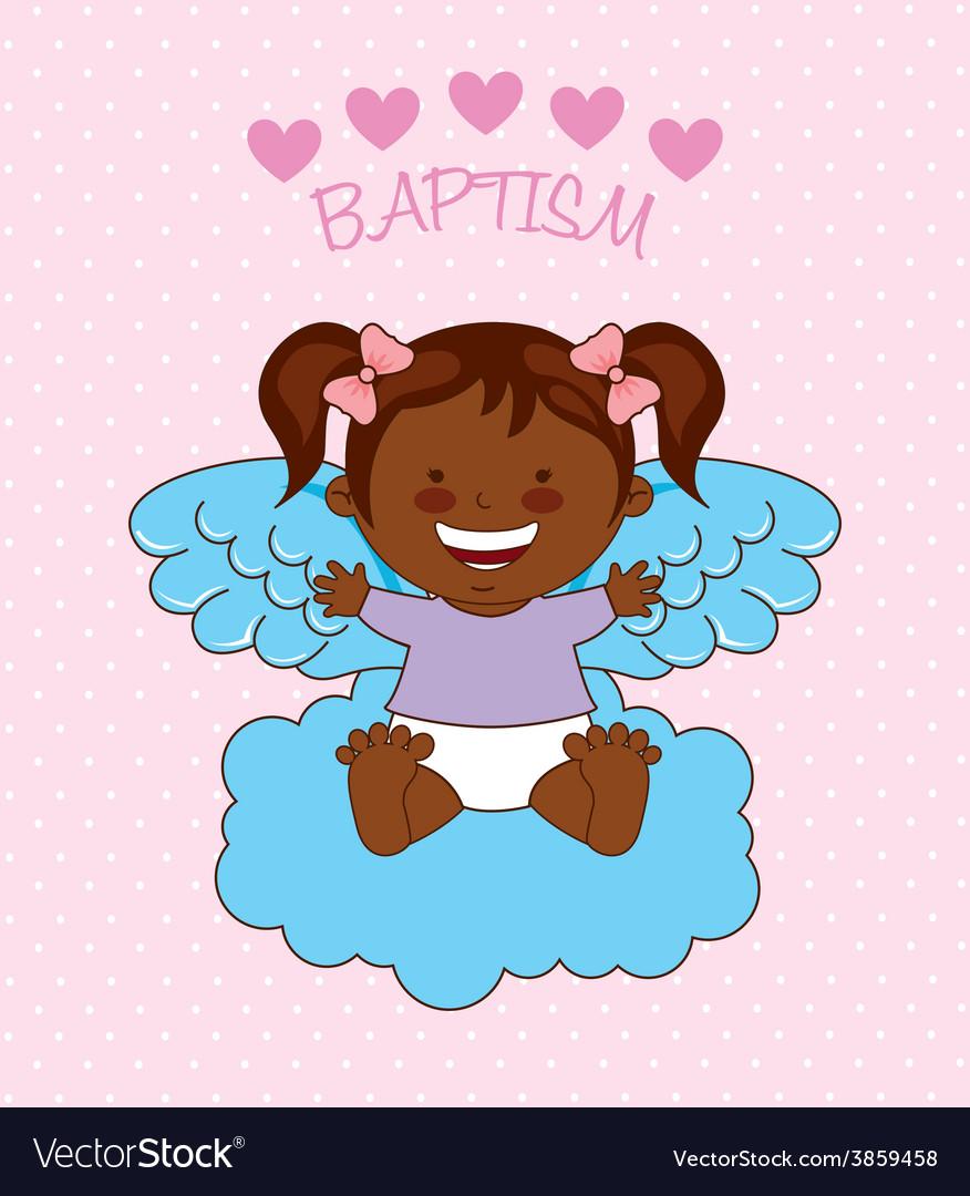Baptism angel design vector | Price: 1 Credit (USD $1)