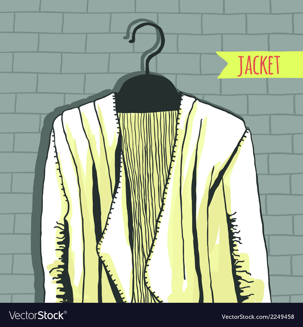 Jacket brick wall vector | Price: 1 Credit (USD $1)