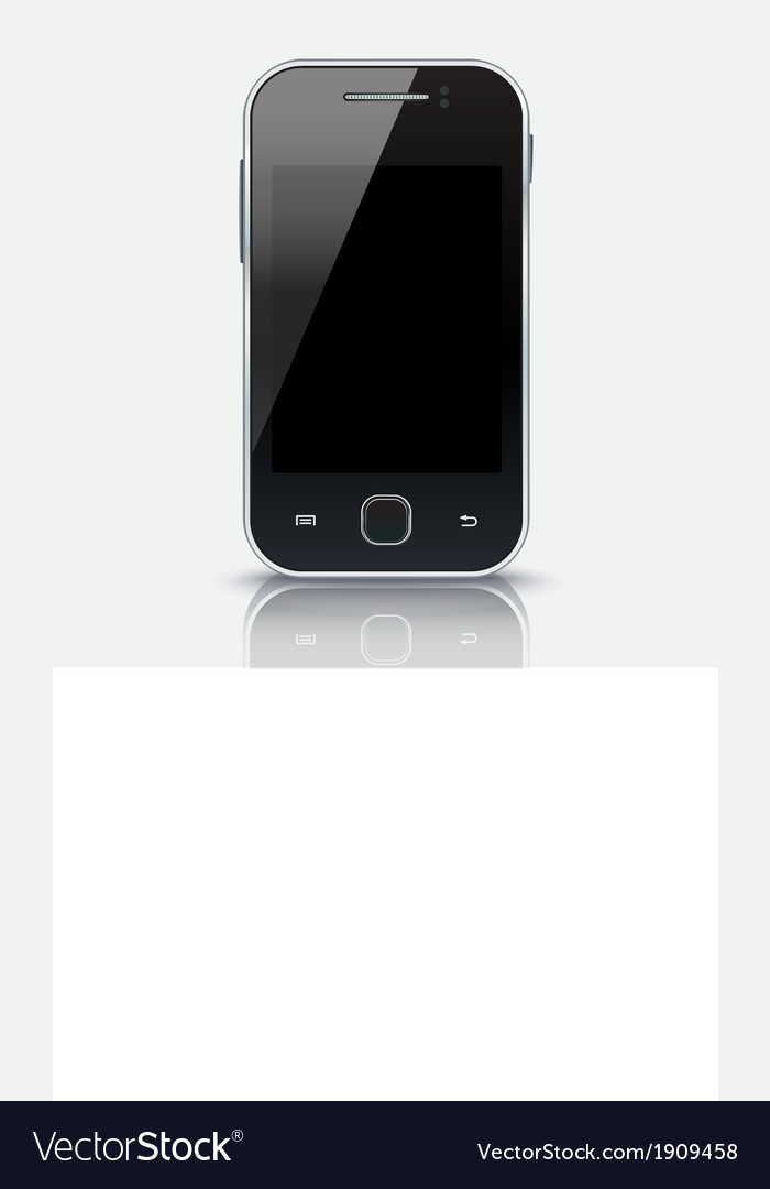 Mobile phone with blank screen eps 10 vector | Price: 1 Credit (USD $1)