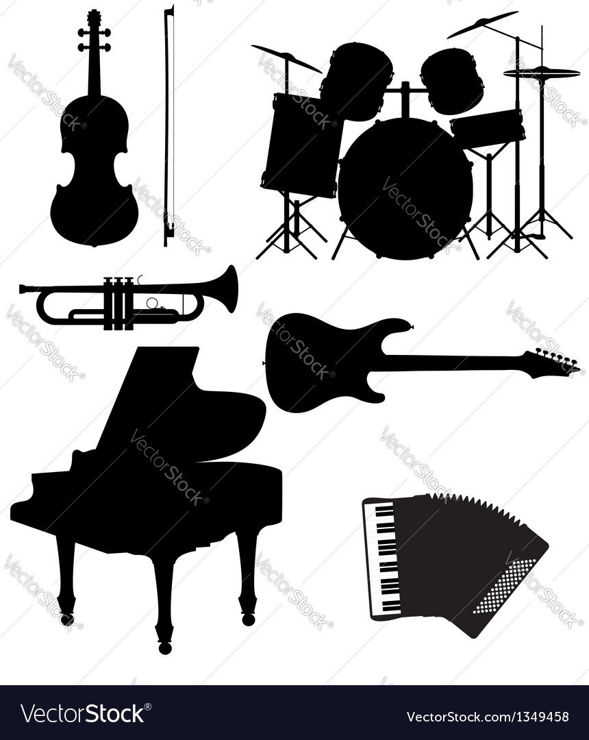 Set musical instruments 02 vector | Price: 1 Credit (USD $1)