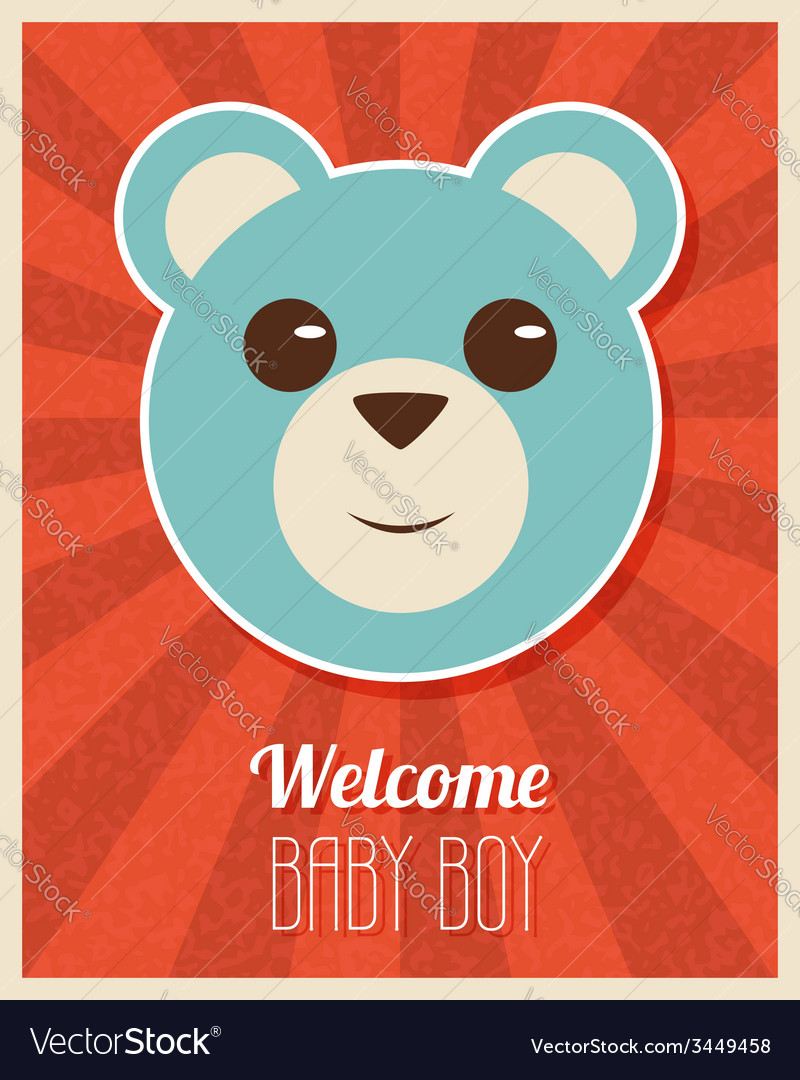 Welcome baby boy card vector   Price: 1 Credit (USD $1)