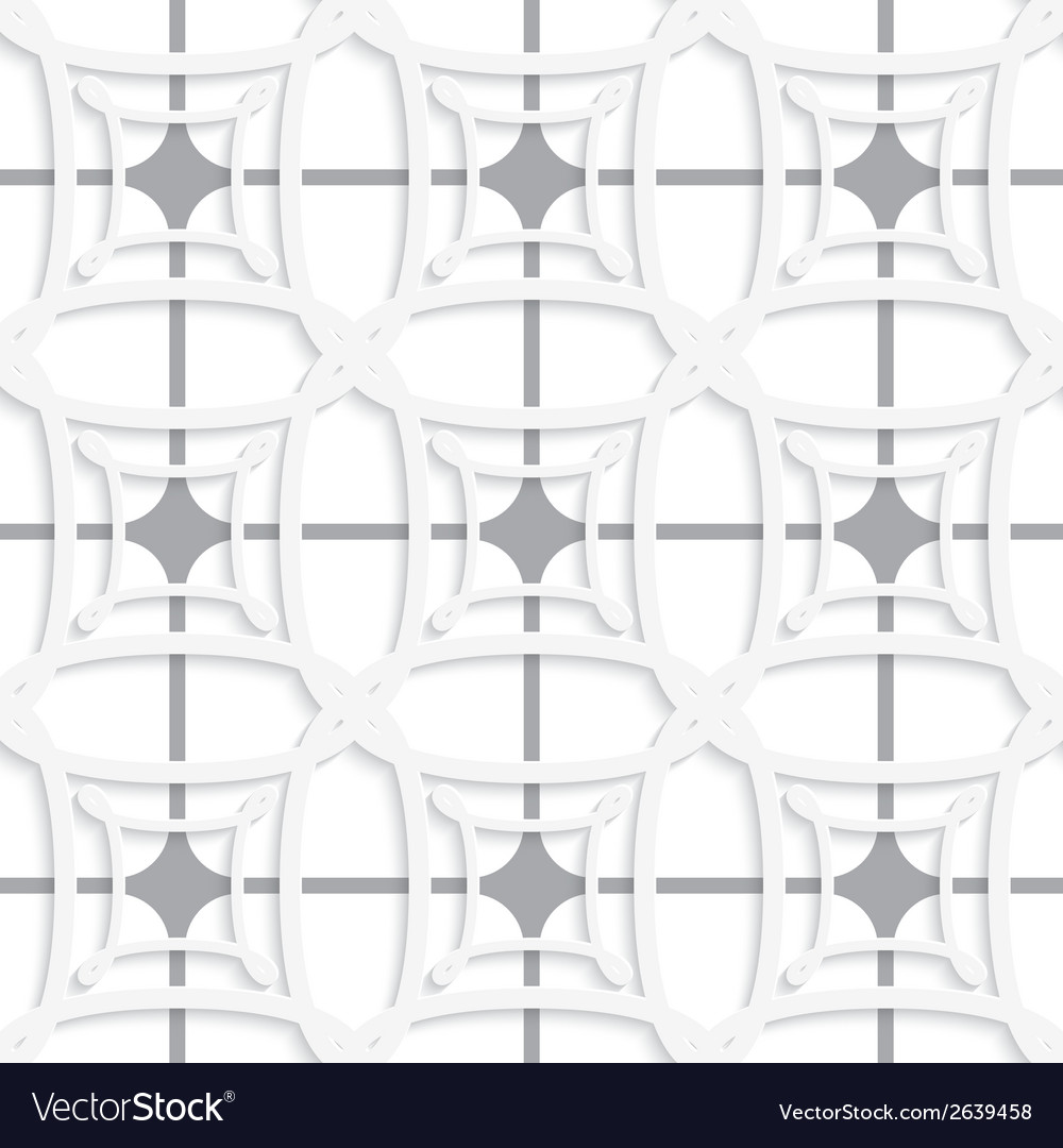 White geometric ornament with gray net seamless vector | Price: 1 Credit (USD $1)