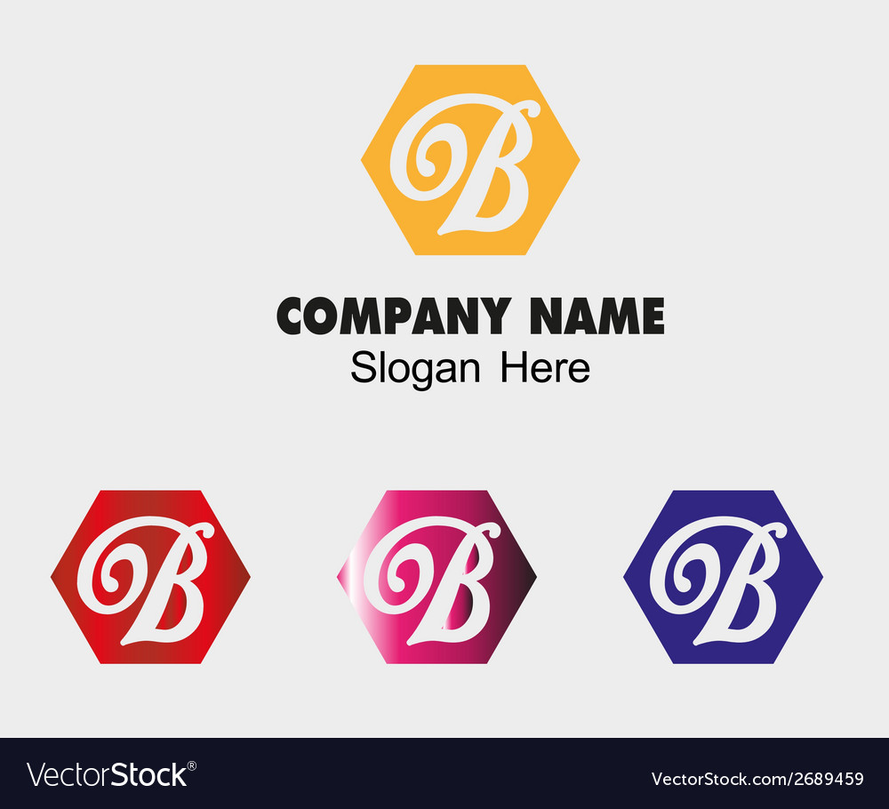 Abstract b logo design template letter b vector | Price: 1 Credit (USD $1)
