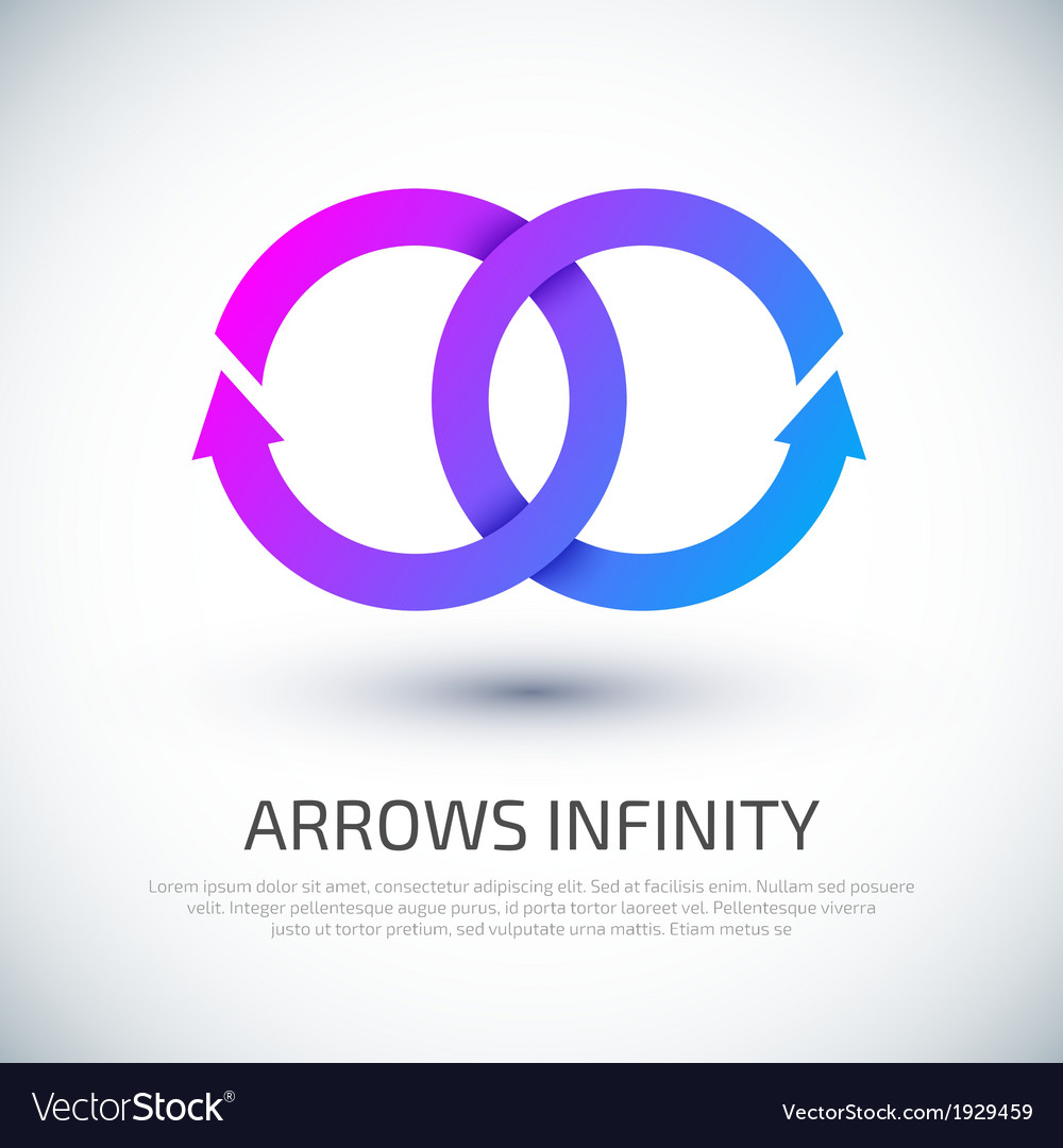 Arrow infinity business logo vector   Price: 1 Credit (USD $1)