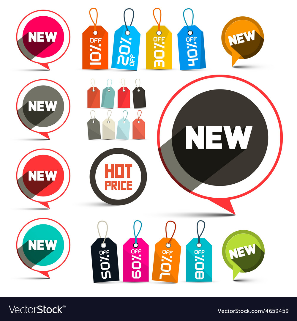 Business labels - stickers with new title and vector | Price: 1 Credit (USD $1)