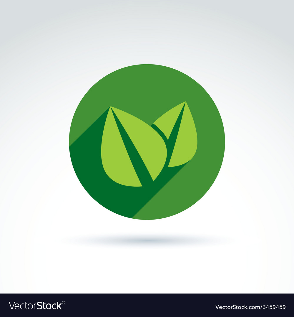 Ecology icon for nature and environment vector | Price: 1 Credit (USD $1)