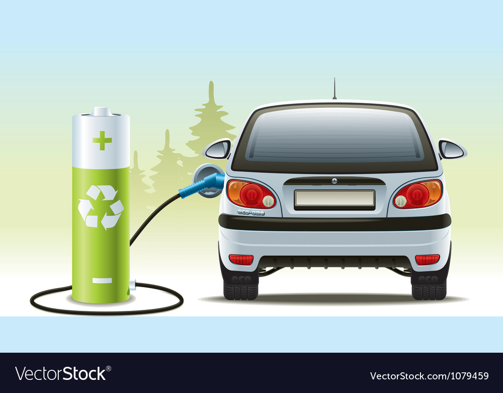 Electric car recharges vector | Price: 3 Credit (USD $3)