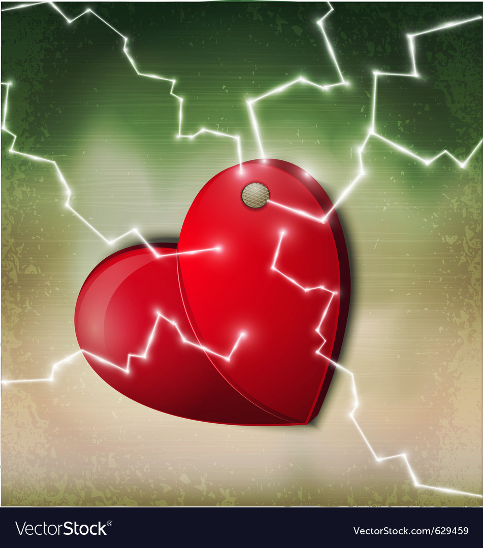Electric heart background vector | Price: 3 Credit (USD $3)