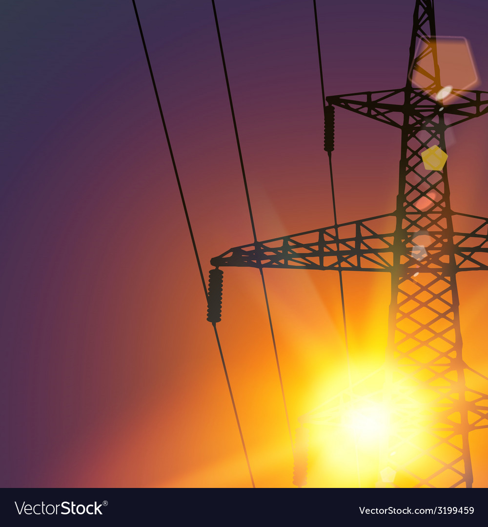 Electrical transmission line vector   Price: 1 Credit (USD $1)