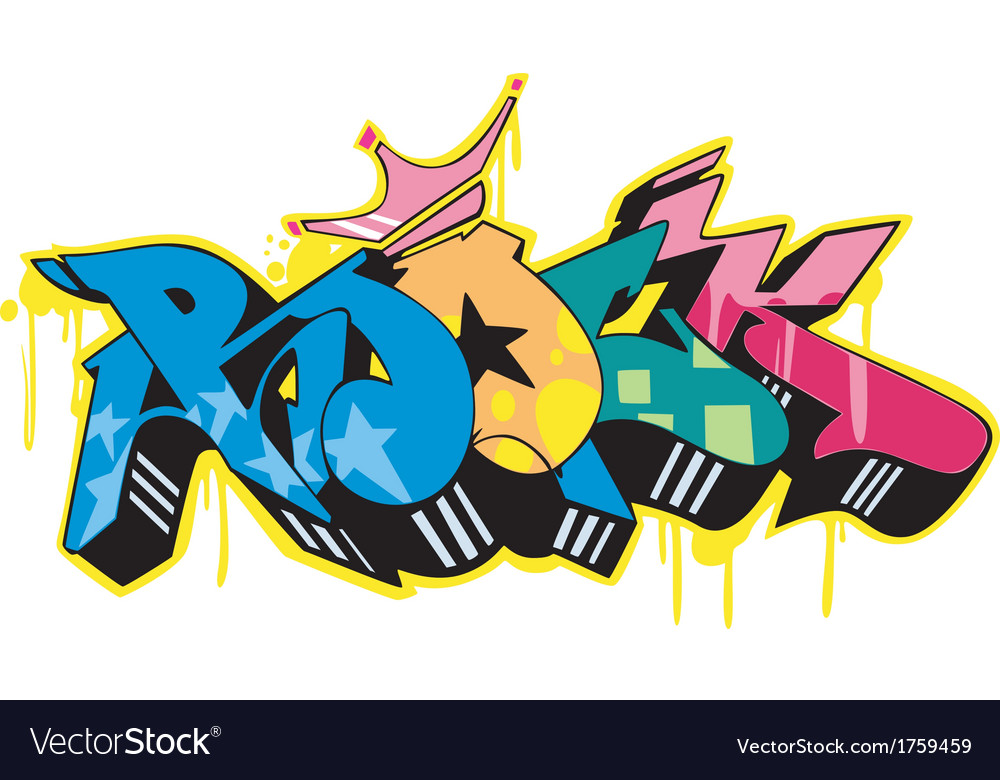 Graffito - rock vector | Price: 1 Credit (USD $1)