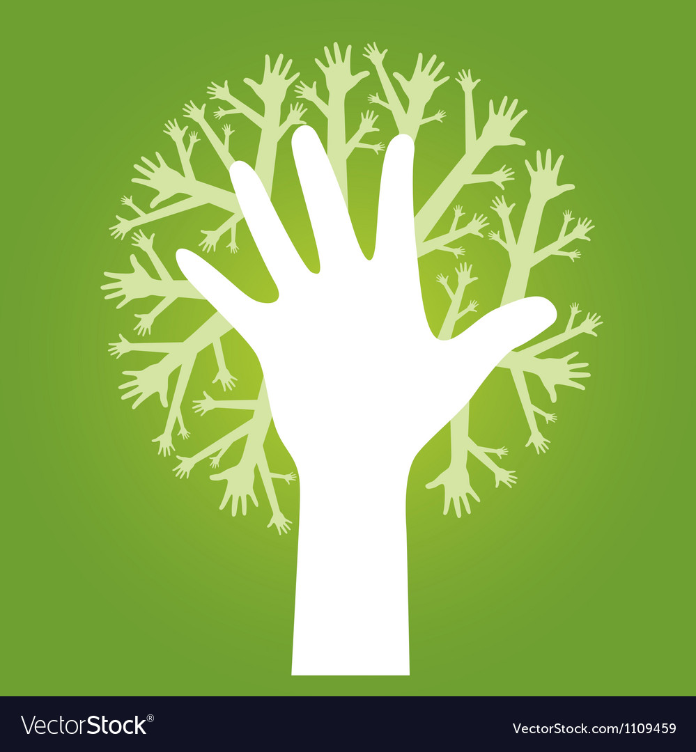 Hands tree vector | Price: 1 Credit (USD $1)