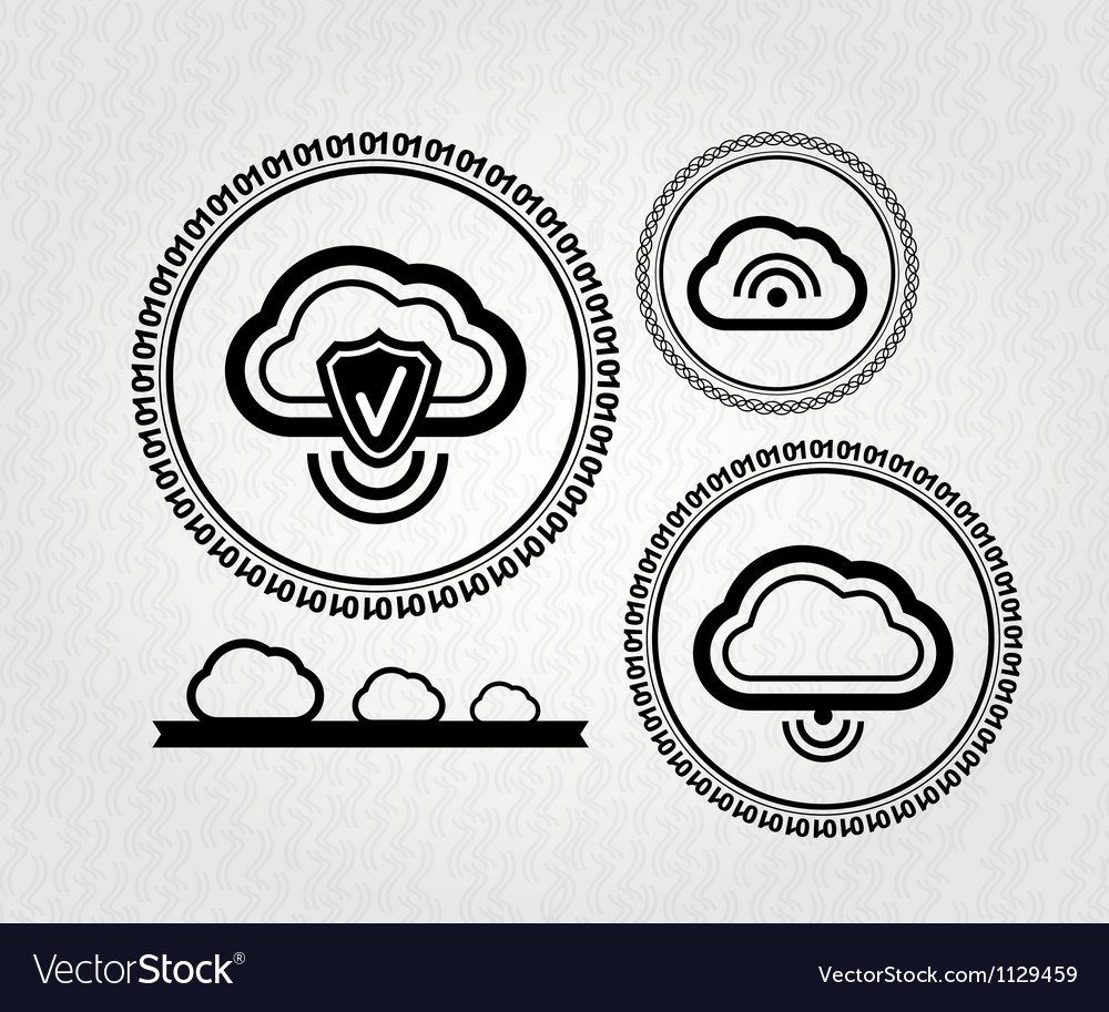 Lables  stamps  tags  cloud connection concept vector | Price: 1 Credit (USD $1)