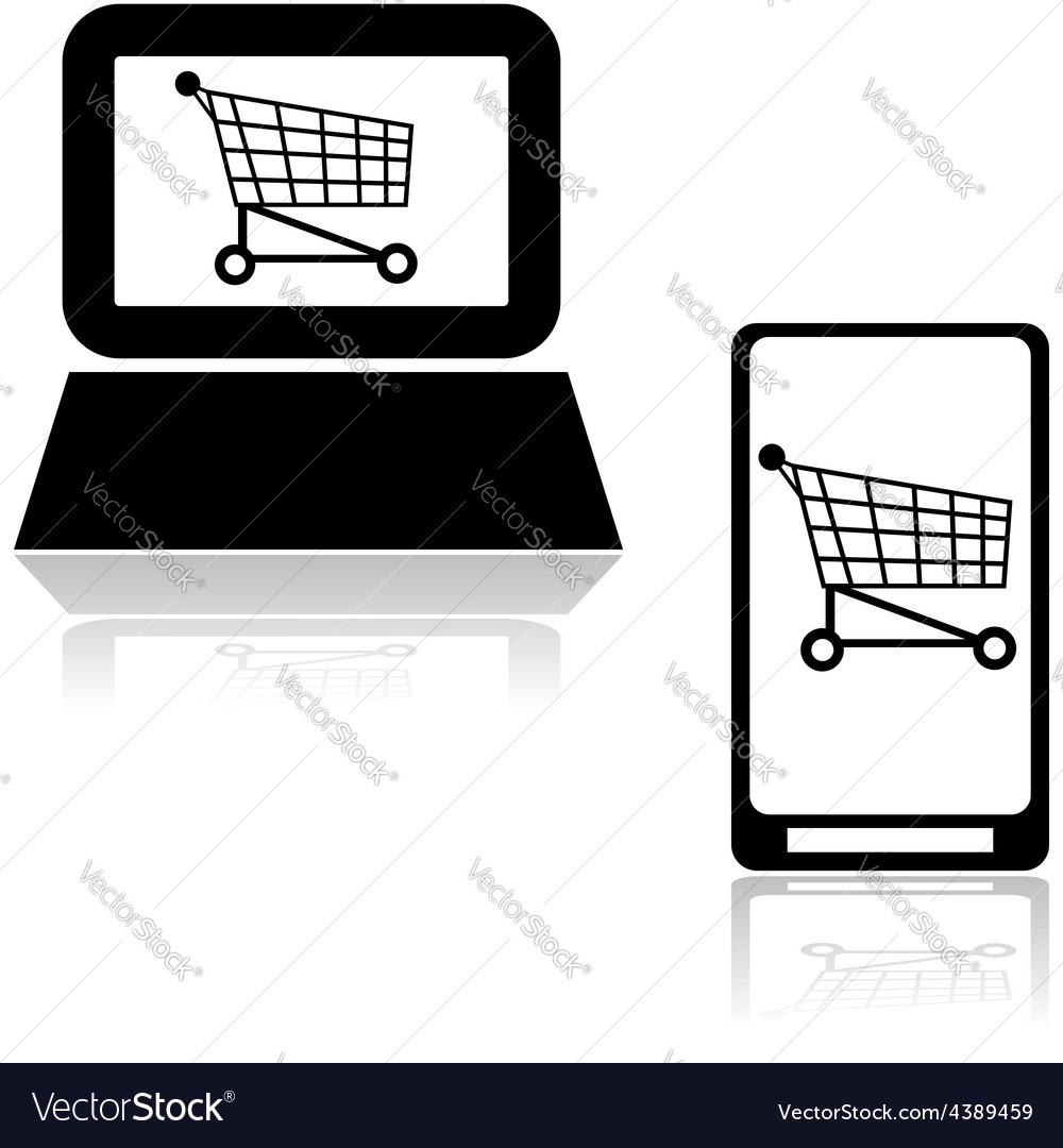 Online shopping vector   Price: 1 Credit (USD $1)