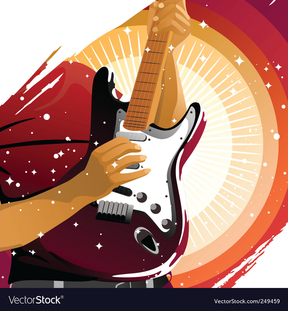 Playing guitar vector | Price: 3 Credit (USD $3)