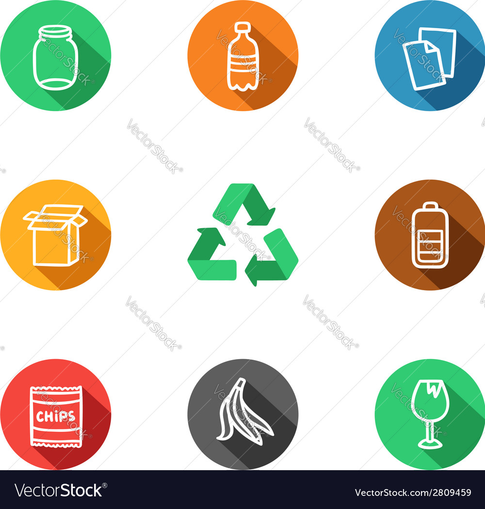 Recycling icons collection vector | Price: 1 Credit (USD $1)