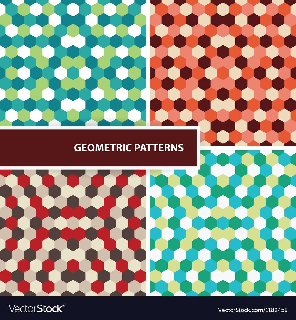 Set of geometric patterns vector | Price: 1 Credit (USD $1)
