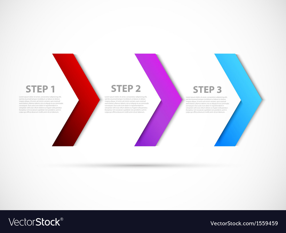 Step design vector | Price: 1 Credit (USD $1)