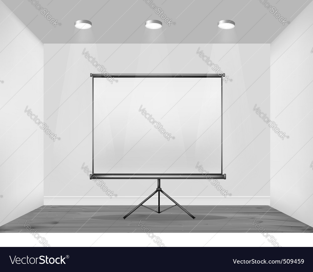 White wall with billboard vector | Price: 1 Credit (USD $1)